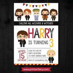 Harry Potter Inspired invitations
