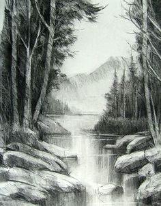 10 Dibujos a lápiz de paisajes (4)