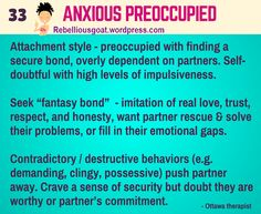 Anxious Preoccupied Attachment Style