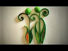 How To Make Quilled Leaves Using Paper Art Quilling - Part II - YouTube