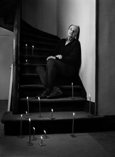 """Michel Tournier (in """"Shades of Love"""" by Dimitris Yeros)   Para Tournier, tres son las máximas formas de celebración: la filosofía, la literatura y el humor"""
