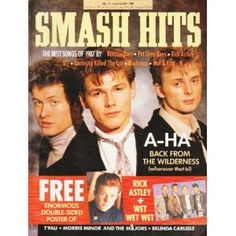 Smash Hits Magazine - 1988 (AHA Cover) I ordered this from the newsagent from 1979 - 1986 when it went shit. It went from a serious music mag to a pop rag. 1980s Childhood, My Childhood Memories, 80s Pop Music, Aha Band, Rick Astley, Curiosity Killed The Cat, Pet Shop Boys, Music Magazines, Teen Magazines
