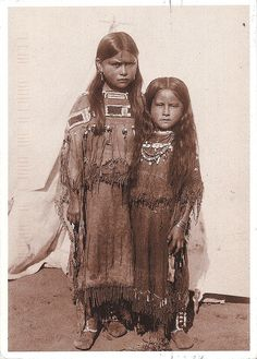 Two of Quanah Parker's daughters. Cynthia Ann Parker she Comes to Visit.