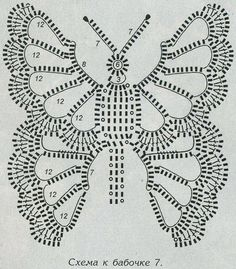 Mode Crochet, Crochet Art, Crochet Motif, Crochet Doilies, Crochet Flowers, Crochet Thread Patterns, Crochet Butterfly Pattern, Crochet Stitches Patterns, Filet Crochet
