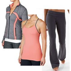 Workout clothes! Lululemon, dusty pinks.
