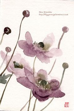 Purple flowers-Japanese print