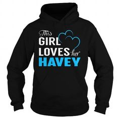Cool This Girl Loves Her HAVEY - Last Name, Surname T-Shirt T-Shirts