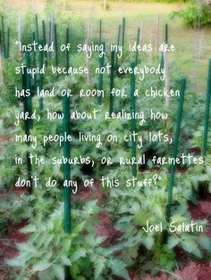 Joel Salatin quote  It's a Boy's Life: Grow Your Own: Fixing the Broken Food System
