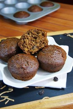 Classic Refrigerator Bran Muffins with Raisins ~ packed with fiber and flavor.   www.thekitchenismyplayground.com