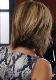 back of laura wrights hair