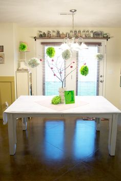 Giving Tree baby shower centerpiece