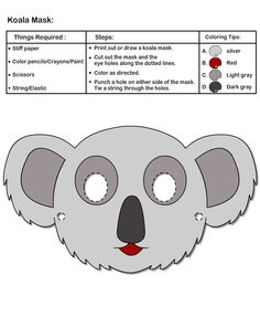 We found a super cute koala mask for you guys to print out and wear! Perfect for an afternoon outside climbing trees… Just don't eat too many Eucalyptus leaves!