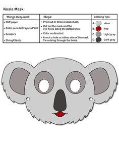 Koala Mask for Kids   Print and Cut Mask