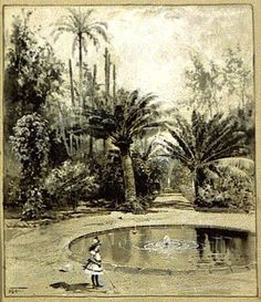 Garden in the West Indies, illustration by Harry Fenn for the Aug. 1888 Harper's Magazine, via Library of Congress.