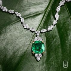 Radiant-cut yellow diamond ring by Harry Winston. An enchanting emerald and diamond necklace complements summer's lush garden greens. Jewelry Stores, Jewelry Box, Fine Jewelry, Jewellery Rings, Jewlery, Jewelry Websites, Bullet Jewelry, Geek Jewelry, Jewellery Shops
