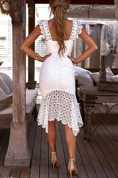 White lace party dress - Sweet Off Shoulder Plain Lace Split Joint Evening Dress – White lace party dress White Ruffle Dress, Lace Dress, White Maxi, Gown Dress, Lace Party Dresses, Evening Dresses, Dresses Dresses, Holiday Dresses, Dress Party