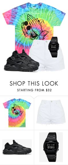 """""""Untitled #32"""" by rosymamii ❤ liked on Polyvore featuring Topshop, NIKE and Casio"""