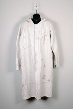 1950's cotton + linen french work coat