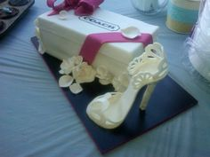 Coach Shoe Box Cake made by The Ginger Cakery in Orange county NY