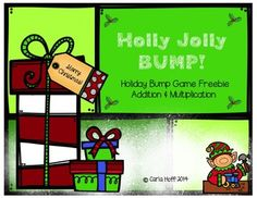 Two holiday-themed bump games, one for addition and one for multiplication!  Merry Christmas!