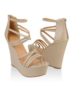 Strappy Patent Wedges | FOREVER21 - 2011690041 I LOVE THESE.