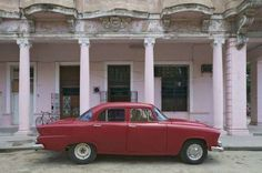 A classic American car on a Cuban street.