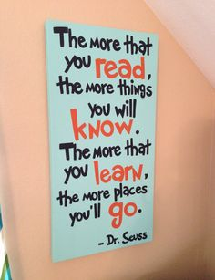 dr suess quote the more that you read turquoise by addilyneli, $60.00