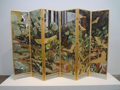 Beautifully painted room divider at Fred Snitzer Gallery