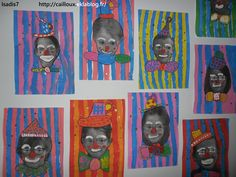 School Art Circus Nos portraits de Clown Kunstunterricht Grundschule Art Circus Clown kunstunterricht grundschule portrait Nos Portraits School Winter Art Projects, Projects For Kids, Theme Carnaval, Portrait Background, Penguin Craft, Circus Art, Circus Clown, Paper Weaving, Art Plastique
