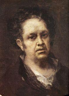 Goya (1746 - 1828), Zelfportret (1815), olieverf op doek, 35 x 46. Goya op een moeilijk moment in zijn leven.Van de trots op zijn vak, die op eerdere zelfportretten een enkele keer waarneembaar is, ontbreekt elk spoor: zie hier de schilder als mens. Een man zonder franje, maar misschien ook zonder illusies.