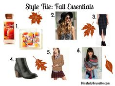 Fall wish list featuring items from Old Navy, Francesca's Collection, Bath & Body Works & more! http://blissfullybrunette.com/?p=4939