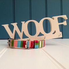 'Woof' Dog Lead Hooks