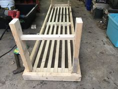 How To Build a Greenhouse Bench For Under 20 Dollars – two branches homestead Greenhouse Tables, Greenhouse Shelves, Heating A Greenhouse, Greenhouse Interiors, Backyard Greenhouse, Greenhouse Plans, Outdoor Projects, Garden Projects, Market Garden