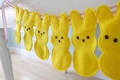 bunny bunting - pattern available here - so cute for easter decor