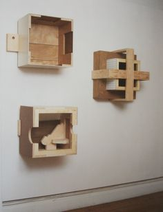 Txomin Badiola Geometric Sculpture, Wood Sculpture, Wall Sculptures, Natural Living, Repurposed, Modern Art, Objects, Arts And Crafts, Woodworking