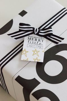 Holiday Gift Tags  Black and Gold