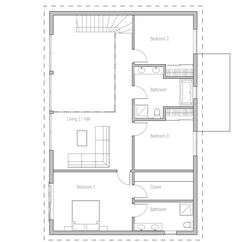 Could this be a first level floor with kitchen in open space?  Keep stairs to additional living quarters? (In-law suite? Door opens from outside?)  house-plans-2015_11  house plan ch336.png