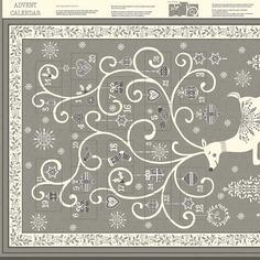 Makower - Scandi Advent - grey