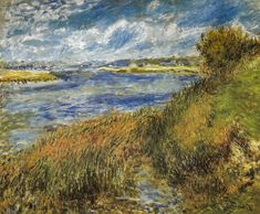 Pierre Auguste Renoir - Banks of the Seine at Champrosay, 1876 at Musee d'Orsay Paris France (by mbell1975)