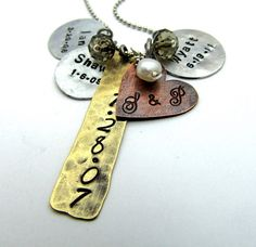 Personalized Necklace Hand Stamped Jewelry  by FiredUpLadiesHammer, $36.00