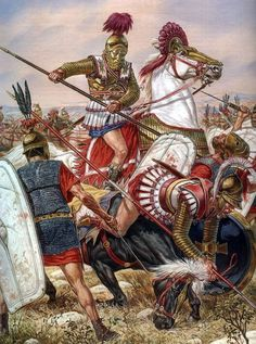 battle of Magnesia Fought between the Seleucid empire under Antiochus III 'The Great' against the forces of Lucius Cornelius Scipio and his brother Publius Cornelius Scipio Africanus, the victor of Zama. History of Macedonia the ancient Kingdom of Greece Greek History, Roman History, Ancient History, Ancient Rome, Ancient Greece, Greco Persian Wars, Art Roman, Rome Antique, Roman Warriors
