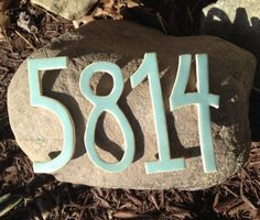 Ceramic Mosaic Tiles Address Numbers Stoneware by Popogirl on Etsy, $12.50