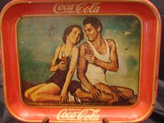 1940's Hollywood Coca-Cola Tray by AntiquatedHeirlooms on Etsy #CocaCola #Tray