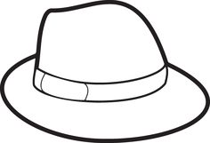 Pictures Of Hats For Coloring Coloring Pages Winter, Coloring Pages For Boys, Free Printable Coloring Pages, Free Coloring, Coloring Sheets, Kids Hats, Hats For Men, Spy Hats, Pictures Of Hats