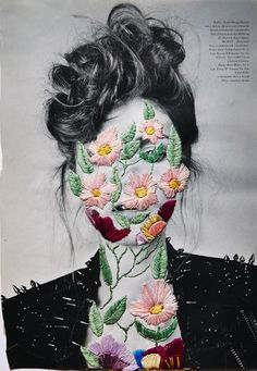 Beautiful embroideries on photos by chilean artist Jose Romussi…