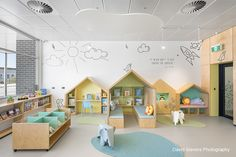 Children's reading area at Aldinga Library, South Australia. Designed by Brown Falconer