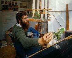 Kit Williams (English/Artist painter) in his studio. via www.manfrottoschoolofxcellence.com