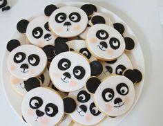 Food | Panda Cookies : Sugar Cookies with Fondant Toppers