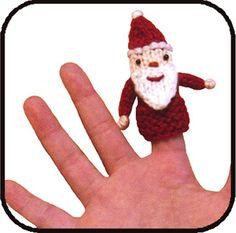 Ravelry: Santa Finger Puppet knitting pattern by Sarah Kim