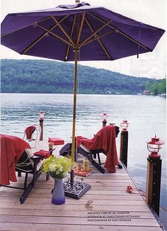Not sure if my dream urban loft in Tuscany will have a dock.... But a girl can dream, right?
